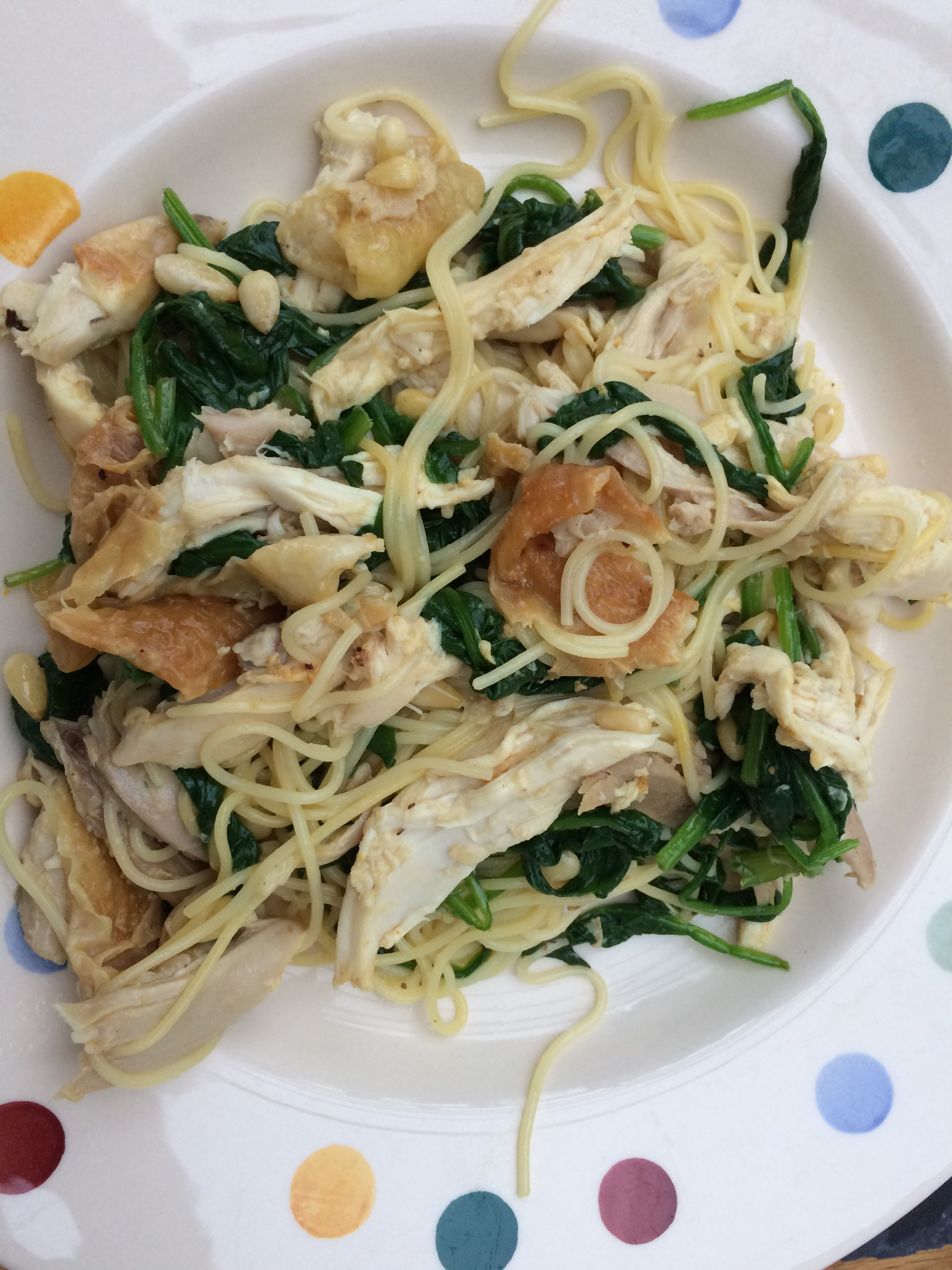 Cuts On This Nigella Recipe Who Wants Sultanas With Chicken Not Me Yuck Added Some Spinach And Used The Pasta I Had In The House As I Didn T Have