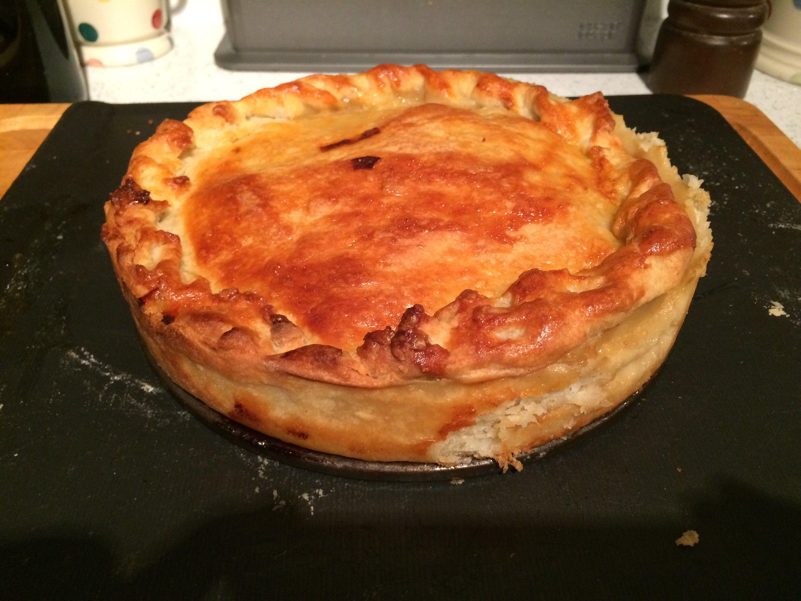 Chicken And Leek Pie Makes One Large And One Small Pie