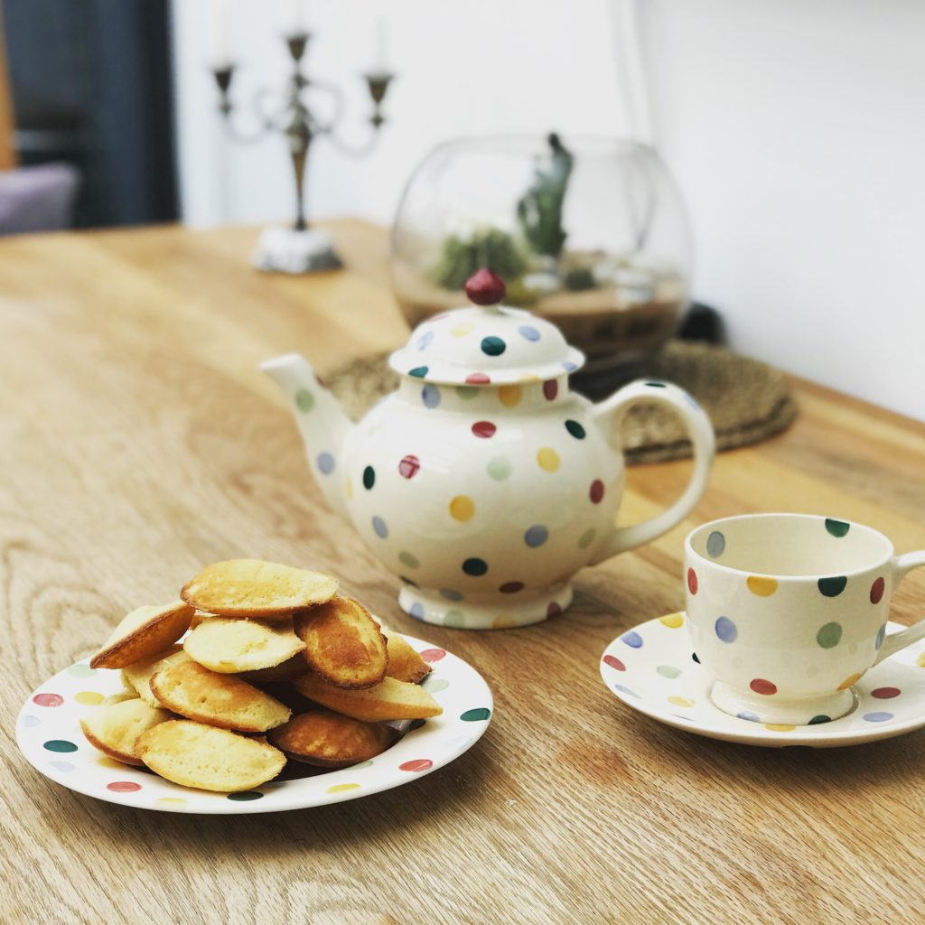 afternoon tea with madeleines