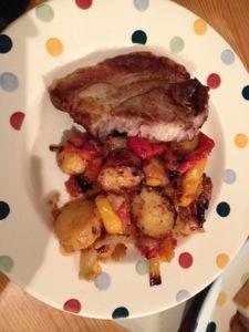 Pork chop traybake