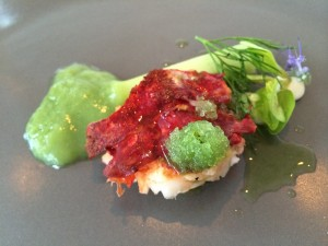 Lobster and cucumber