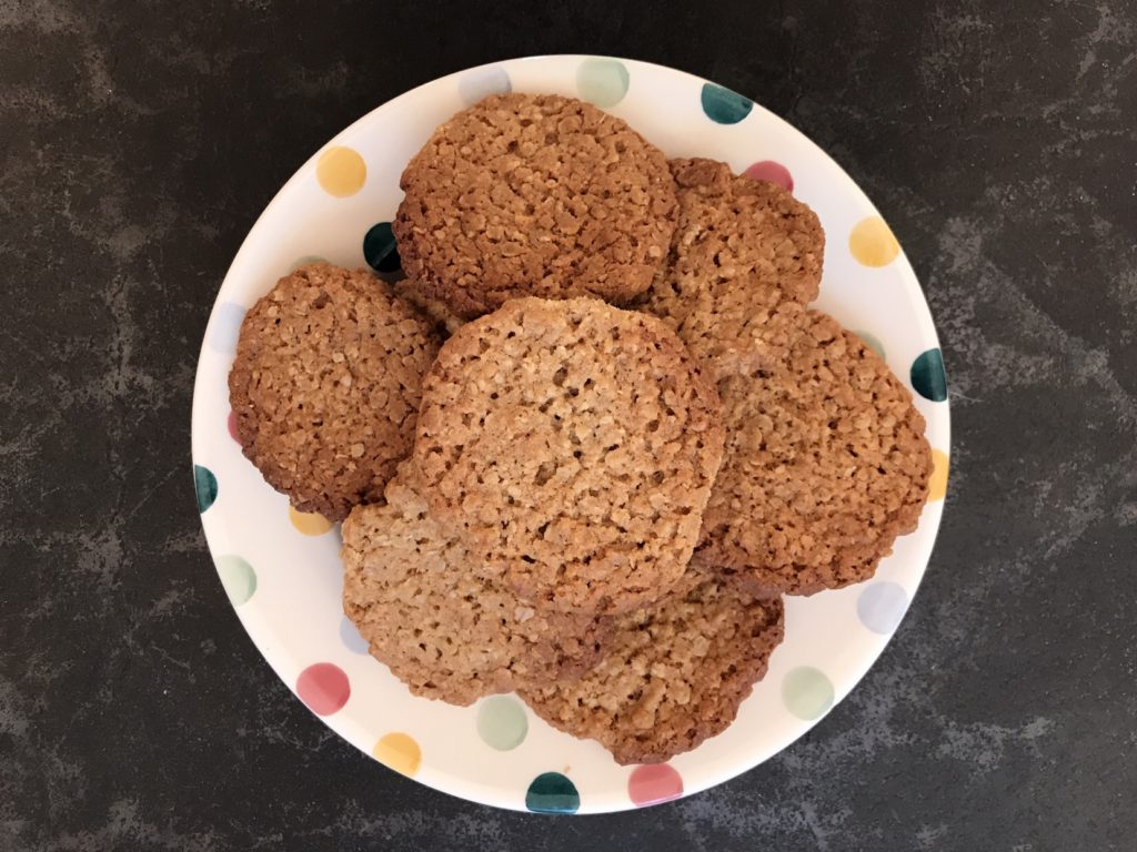 Plate of hobnobs