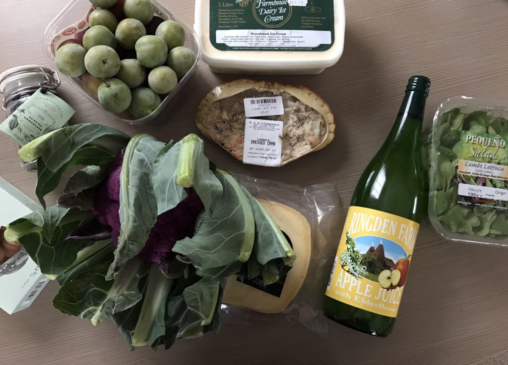 shopping from Runcton farm shop