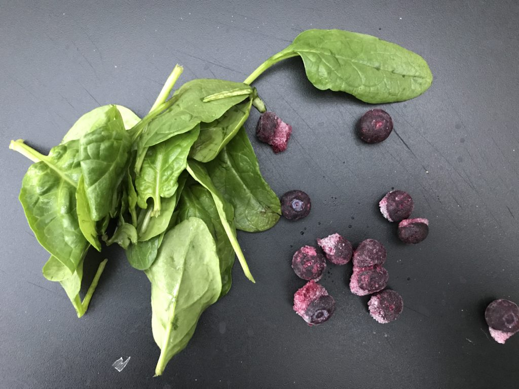 Spinach and blueberry