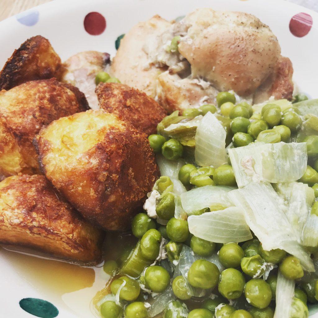 roast chicken traybake