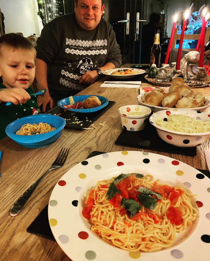 homemade tomato pasta