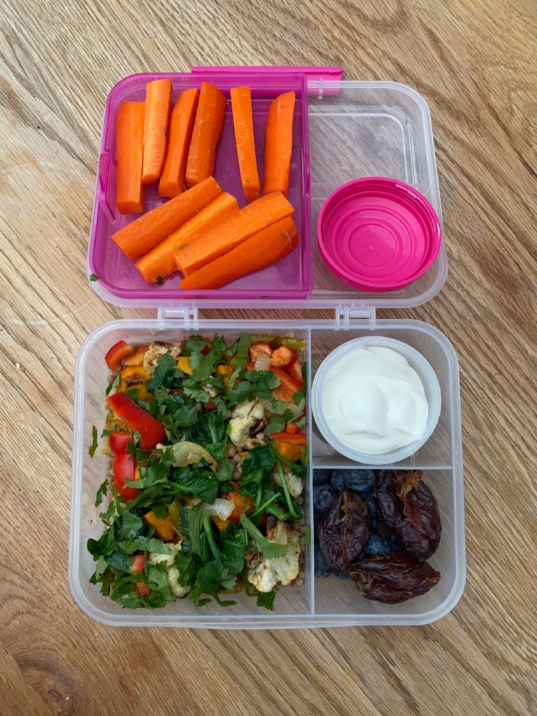 Packed lunch for first week of 2020