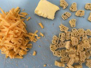 Easy cheesy pasta ingredients