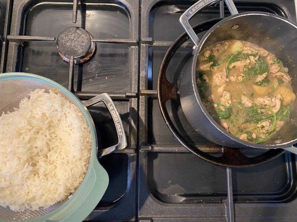 Simplest curry and rice on hob
