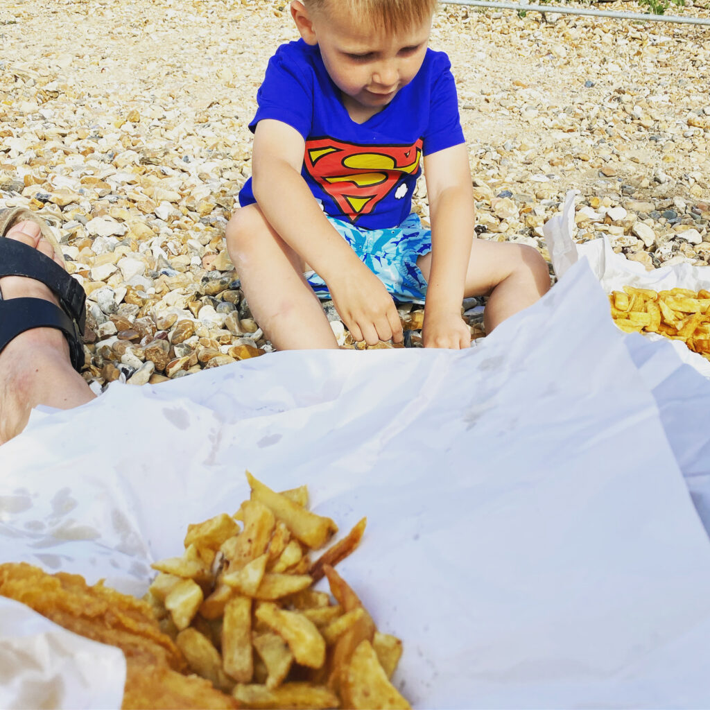 Al fresco fish and chips