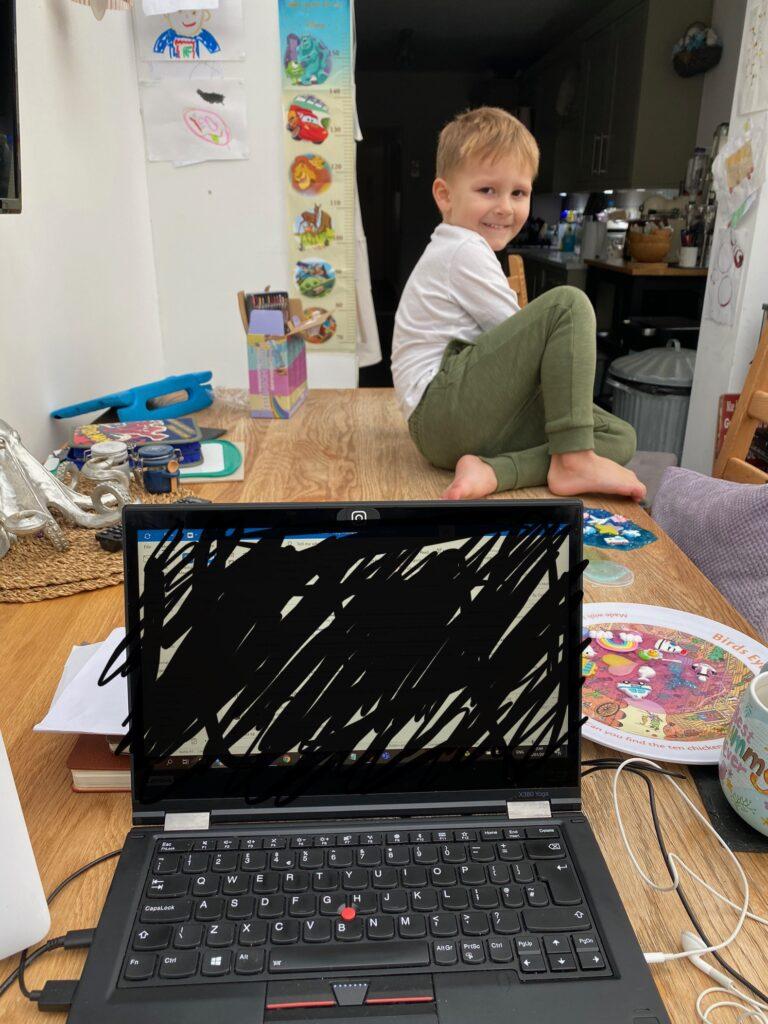 Ioan homeschool on table