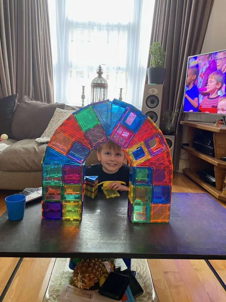Magnatiles bridge