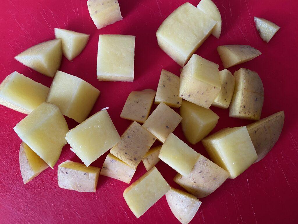 Welsh corned beef pie diced potatoes