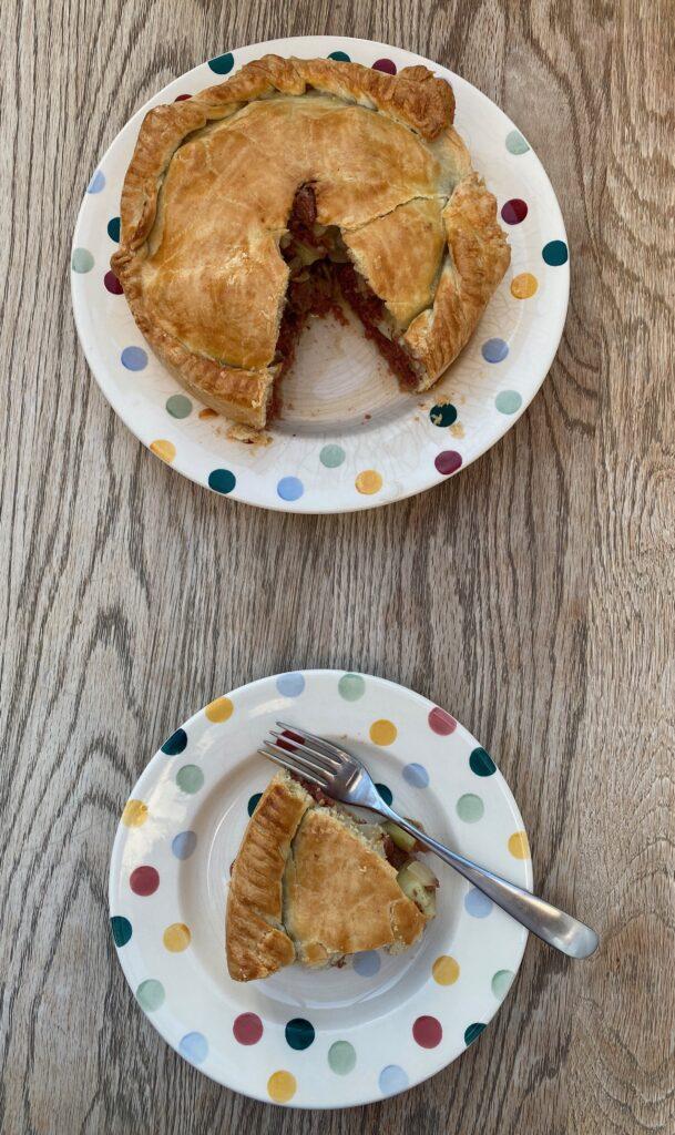 Welsh corned beef pie